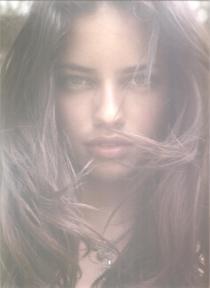 adriana lima elle magazine | hair by joseph bartucci
